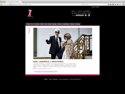 "Site internet : Librairie 7L Karl Lagerfeld <a href=""http://librairie7l.com/"" target=""_blank"">visiter le site</a>"