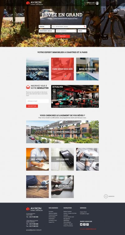 "Site internet responsive : Aviron Conseil Immobilier <a href=""http://aviron-immo.fr/"" target=""_blank"">visiter le site</a> <a class=""realisations-web"" href='https://hemispheres-compagnie.com/realisations-web.html'>Voir nos autres réalisations digitales →</a>"